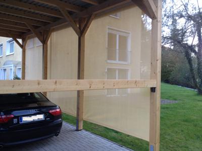 Windschutznetze für carports und terrassen bei siepmann