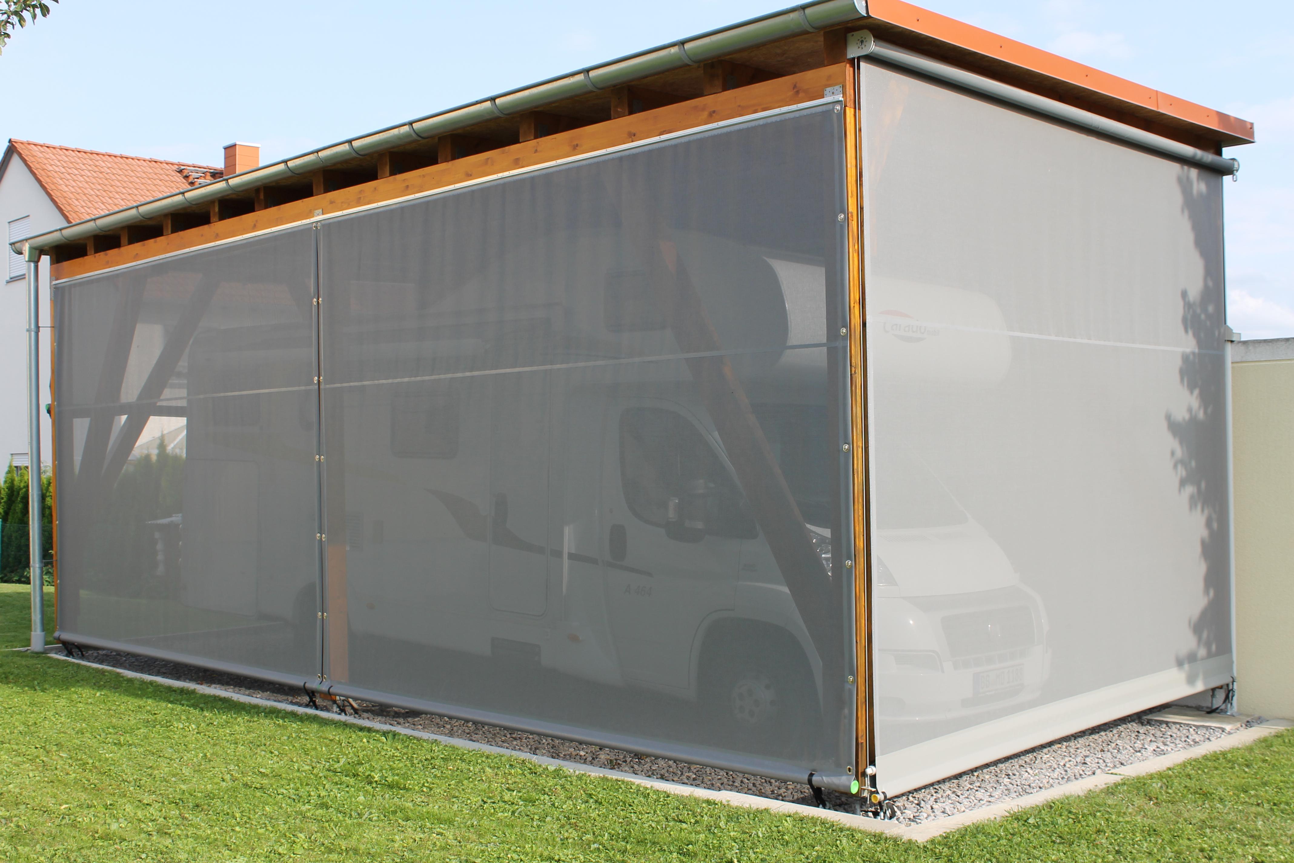 Windschutznetze Fur Carports Terrassen Haus Und Garten