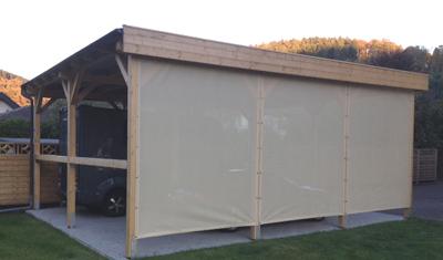 Plane Für Terrasse windschutznetze für carports und terrassen bei siepmann