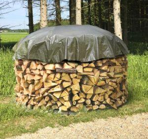 Brennholzplane rund