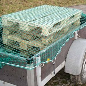 Anhänger-Abdecknetz grün