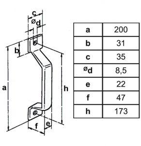 Stahl-Türgriff