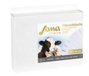 Milchfilterschlauch genäht
