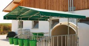 Vordach für Großraum-Kälberhütte