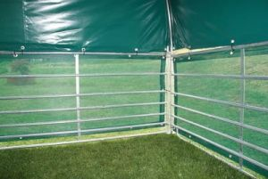 Windschutznetze für Steckfix-Horden