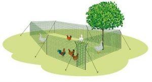 VORFÜHRARTIKEL - Hühnergatter zerlegbar 180 cm hoch, 50m lang