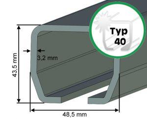 Laufschiene Typ 40 für Schiebetore bis 400 kg