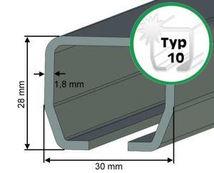 Laufschiene Typ 10 für Schiebetore bis 80 kg