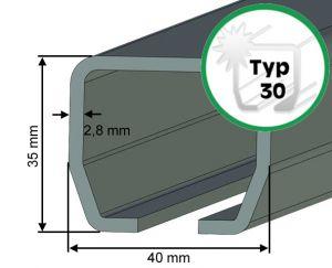 Laufschiene Typ 30 für Schiebetore bis 180 kg