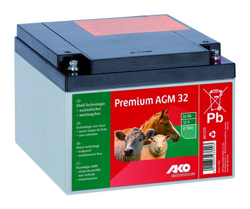 Premium AGM Akku  12 Volt / 32 Ah