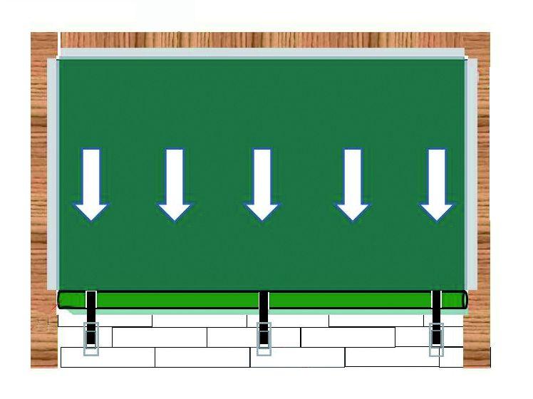 Montageskizze Abspannung auf Mauer bzw. Wand