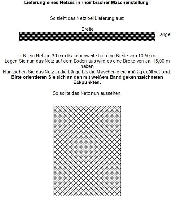 Abdecknetz 10,5 m Breite