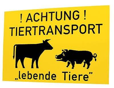 Tiertransportschild
