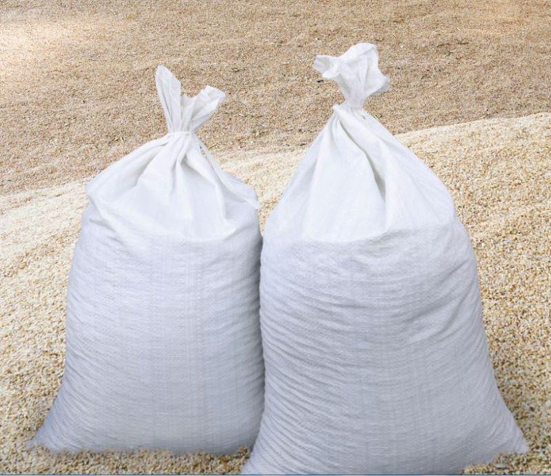 Getreidesäcke gefüllt im Silo