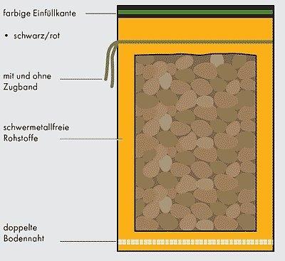 Kartoffel-Raschelsäcke 50 kg