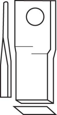 Schlagmesserklingen Universal standard und gekröpft