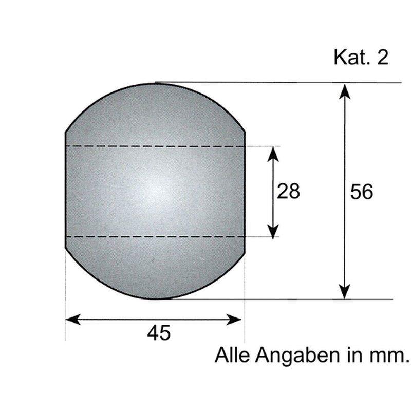 Unterlenker-Kugel Kat. 2