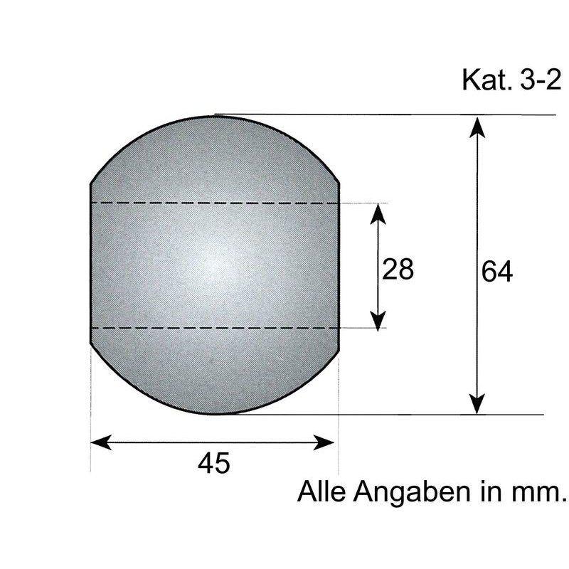 Unterlenker-Kugel Kat. 3-2