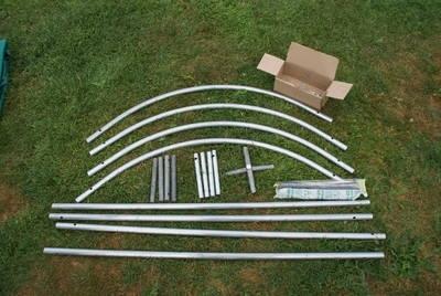 Dachkonstruktion mit Plane für Weideunterstand