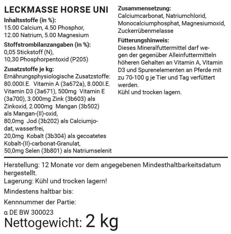 Leckstein Horse - Uni