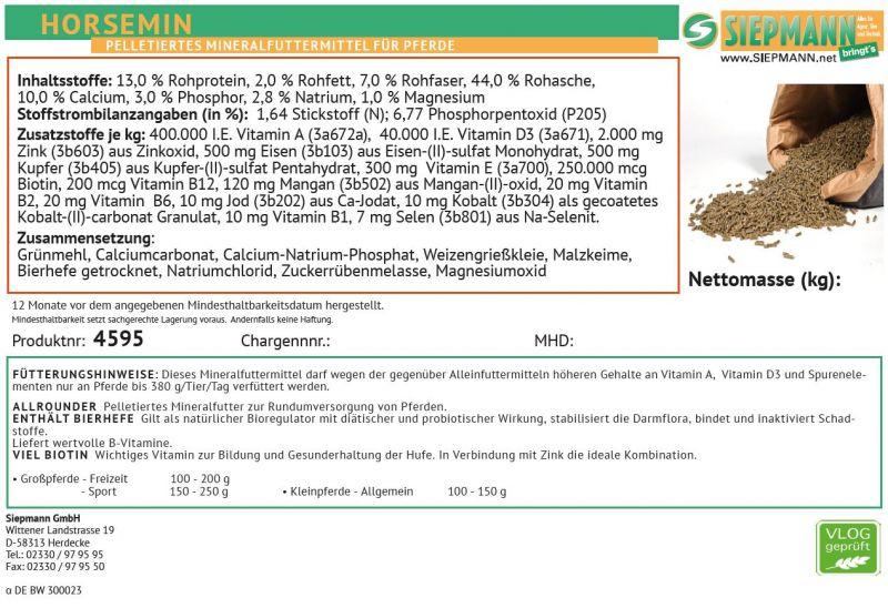 Mineralstoff- und Vitaminkombination Horsemin