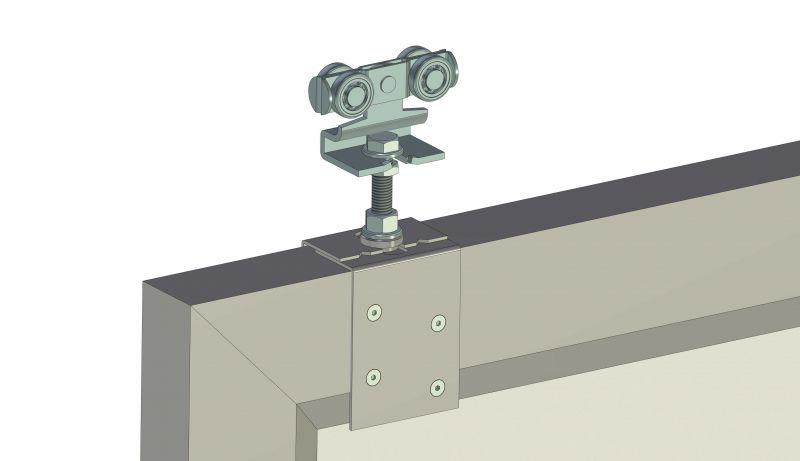 Anschraublasche mit Rollapparat - Montage