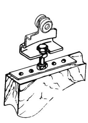 Skizze Anschraubplatte mit Rollapparat