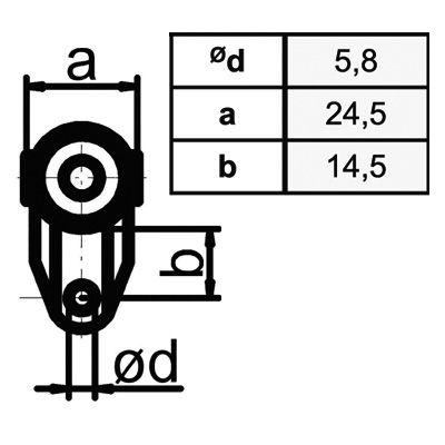 Transportanhänger/Vorhangrolle -einfach  Typ 10/80 kg