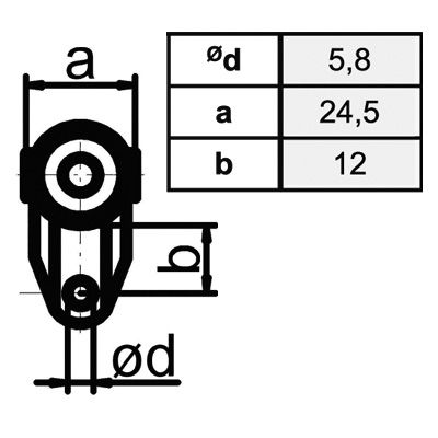 Transportanhänger/Vorhangrolle Typ 30/180 kg