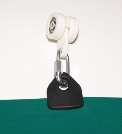 Anwendung mit Schraubglied und Vorhangrolle