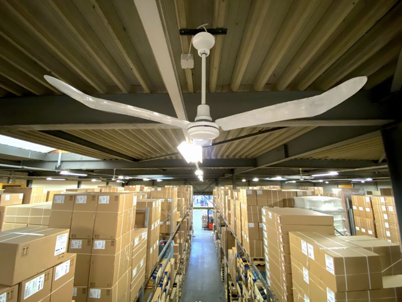 Deckenlüfter Anwendung Lager/Industrie
