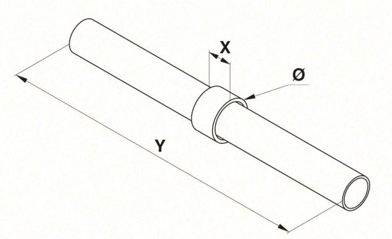 Gesamtlänge: Y 260 mm, Steg mittig X 20 mm