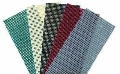 Farbbeispiele für Rollvorhang mit Windschutznetzen