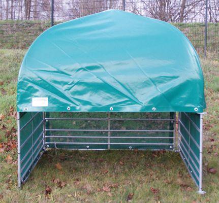 Weideunterstand, Variante mit Windschutznetz