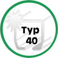 Typ 40 - für Laufenschienen-Spur Typ40 / 400kg